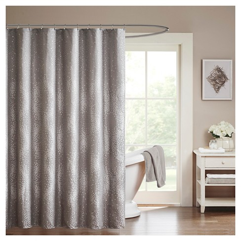 Garner Jacquard Shower Curtain Gray Target