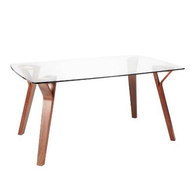 Folia Mid-Century Modern Dining Table Walnut - LumiSource
