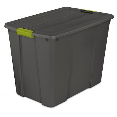 Sterilite 34gal Latching Storage Tote - Gray
