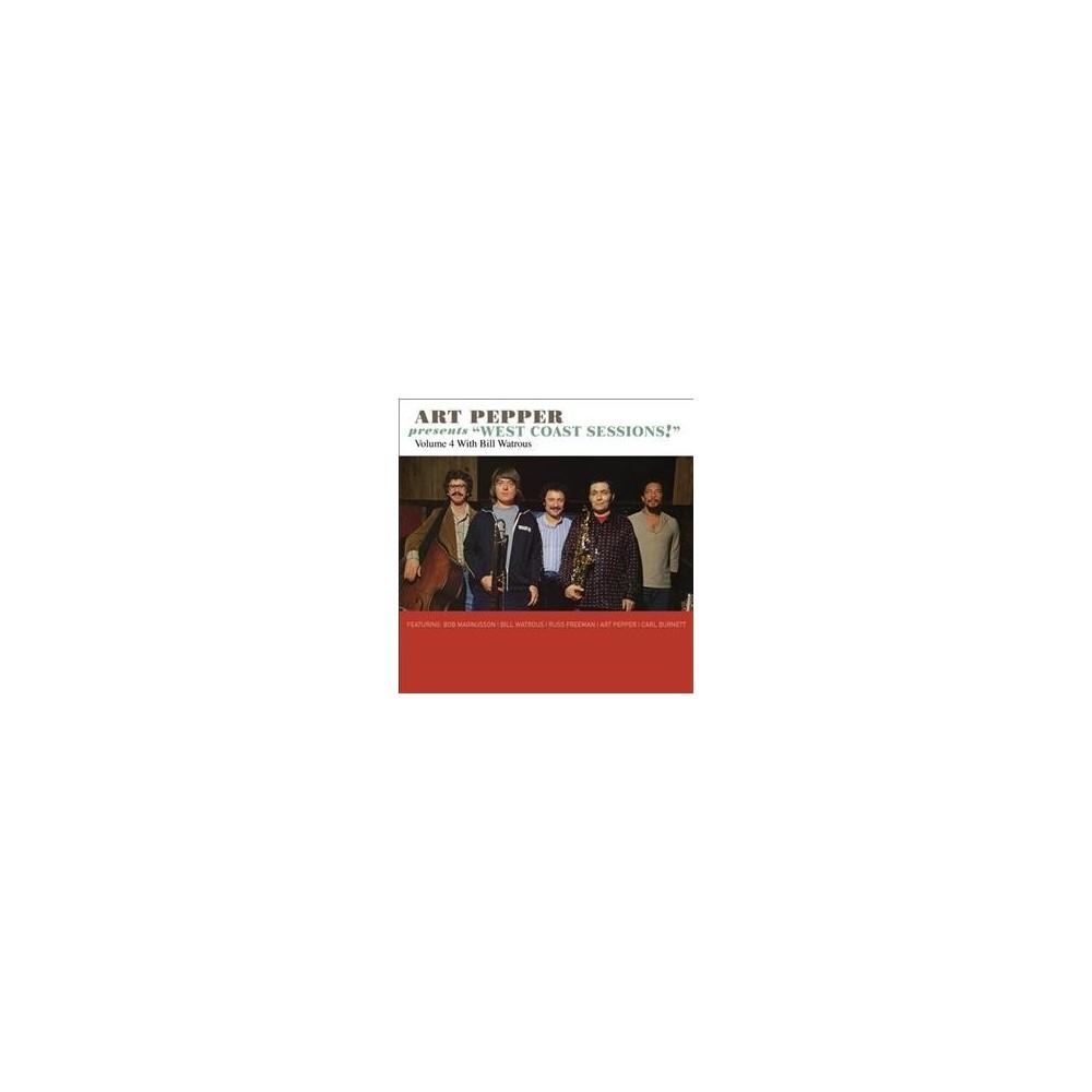 Art Pepper - Art Pepper Presents West Coast Ses V4 (CD)