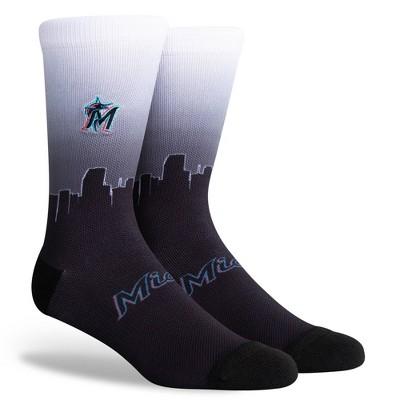 MLB Miami Marlins Sky Crew Socks - L