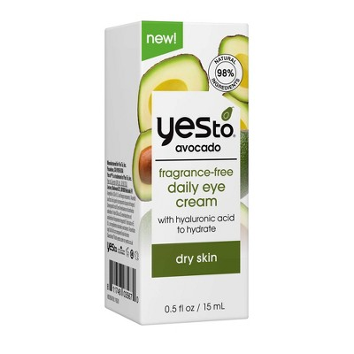 Yes To Avocado Daily Eye Cream - Unscented - 0.5 fl oz
