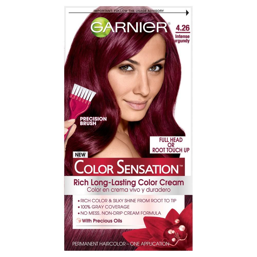 Image of Garnier Color Sensation Rich Long-Lasting Color Cream - 4.26 Intense Burgundy, 4.26 Intense Red
