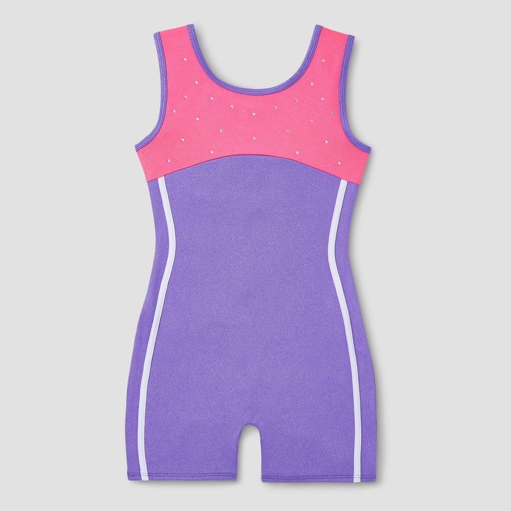 Freestyle by Danskin Girls' Gymnastics Biketard - Purple S