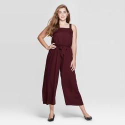 Women's Square Neck Sleeveless Tie Front Cropped Jumpsuit - Xhilaration™