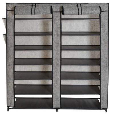 Simplify 7 Tier 14 Shelf Shoe Closet Double Wide