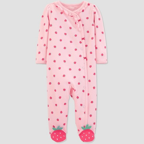 6e3ccd0ec Baby Girls' Strawberry Print Sleep 'N Play One Piece Pajama - Just One You®  made by carter's Pink