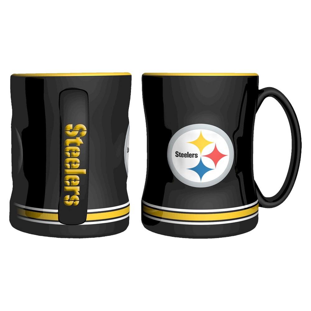 NFL Boelter Brands 2 Pack Relief Mug 15 oz - Pittsburgh Steelers