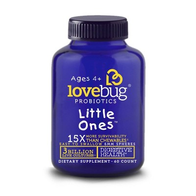 LoveBug Probiotics Little Ones Digestive Health Supplement Spheres - Orange Flavor - 60ct