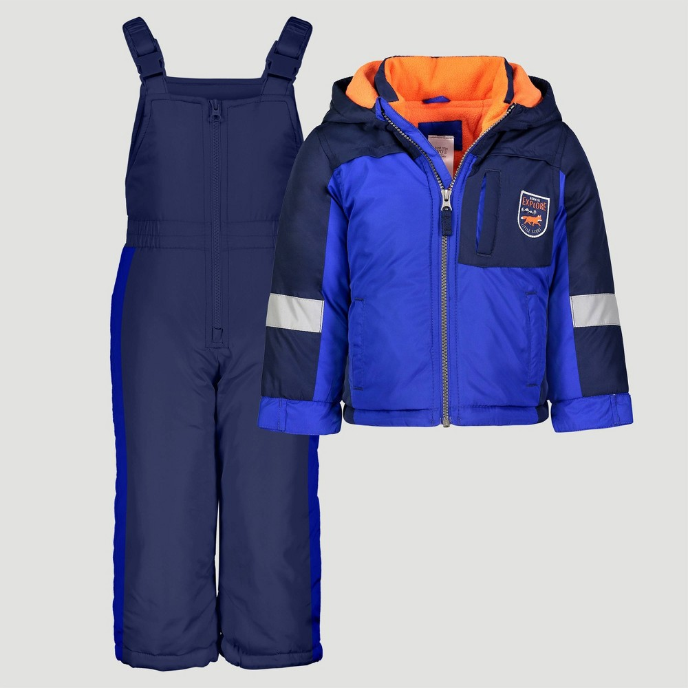 Image of Toddler Boys' Colorblock Snowsuit with Bib - Just One You made by carter's Blue 12M, Boy's