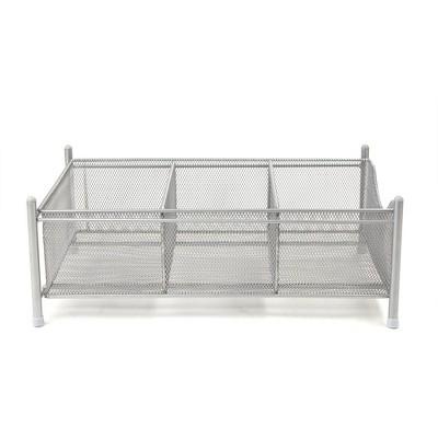 Three Compartment Under the Sink Storage Basket Organizer - Mind Reader