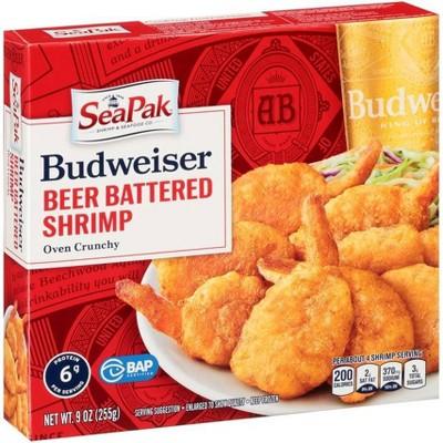 SeaPak Budweiser Beer Battered Shrimp - Frozen - 9oz