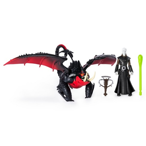 Dreamworks Dragons Deathgripper And Grimmel Dragon With Armored Viking Figure Target