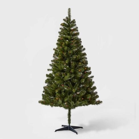 6ft Pre-lit Artificial Christmas Tree Alberta Spruce Multicolored Lights - Wondershop™ - image 1 of 4