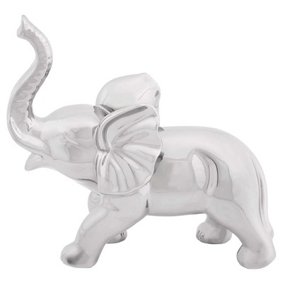 Amazing Animals Porcelain Standing Elephant Sculpture (12 )- Olivia & May