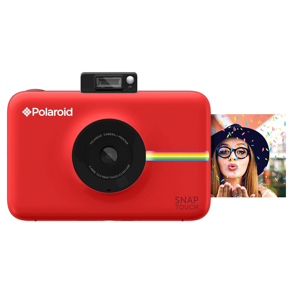 Polaroid Snap Touch Red Instant Print Digital Camera with 3.5 Touchscreen Display, White