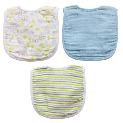 Neat Solutions 3pk Muslin Bib Set - Blue