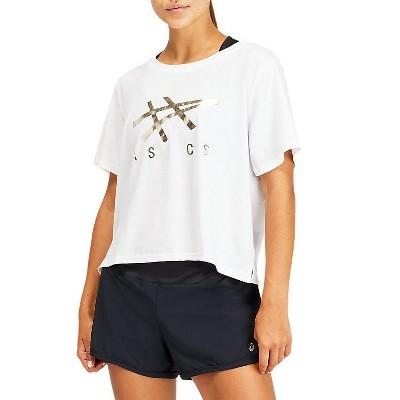 ASICS Women's Stripe Short Sleeve Boxy T Training Apparel 2032B969