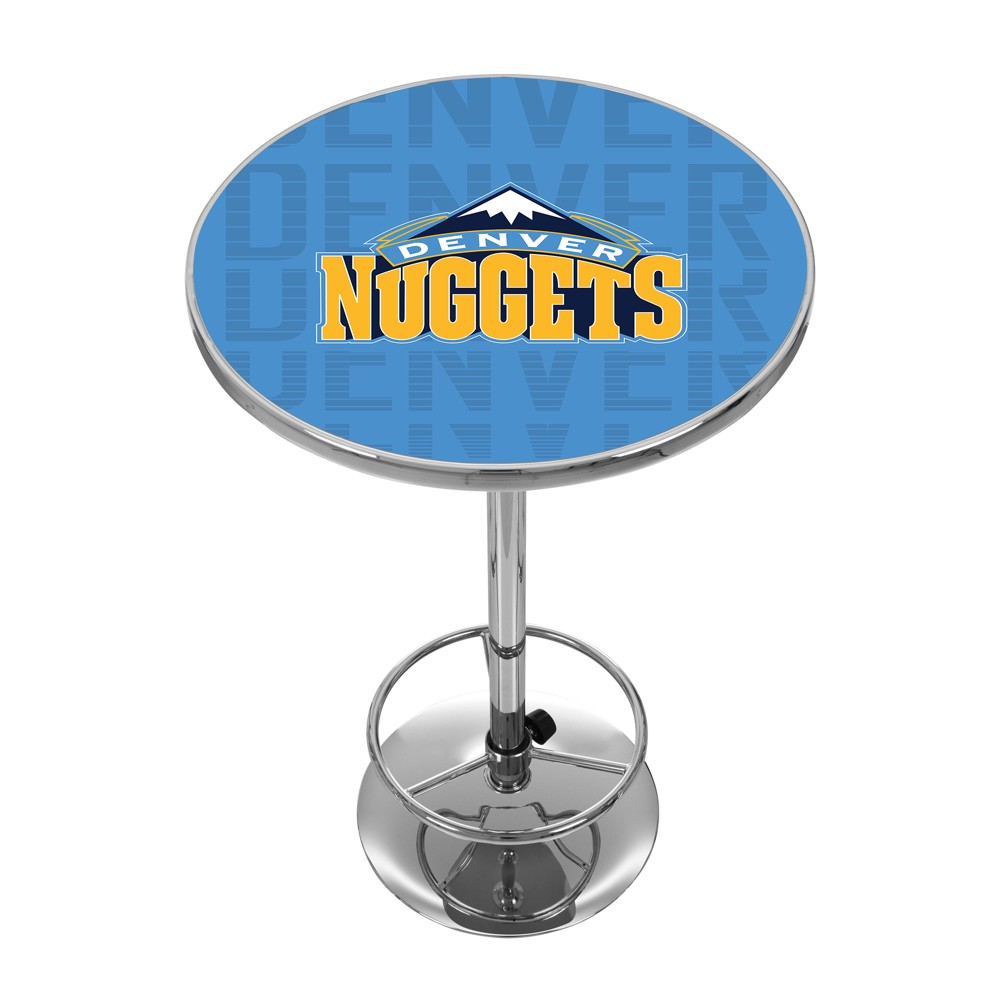 NBA Denver Nuggets City Chrome Pub Table