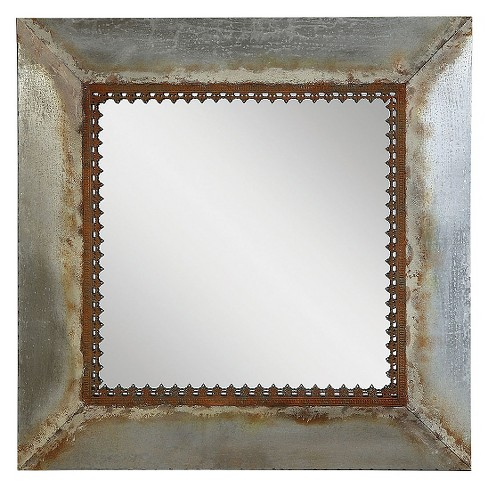 Square Metal Framed Decorative Wall Mirror - 3R Studios - image 1 of 1