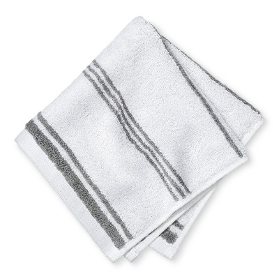 Washcloth Performance Texture Bath Towels And Washcloths Classic Gray - Threshold™