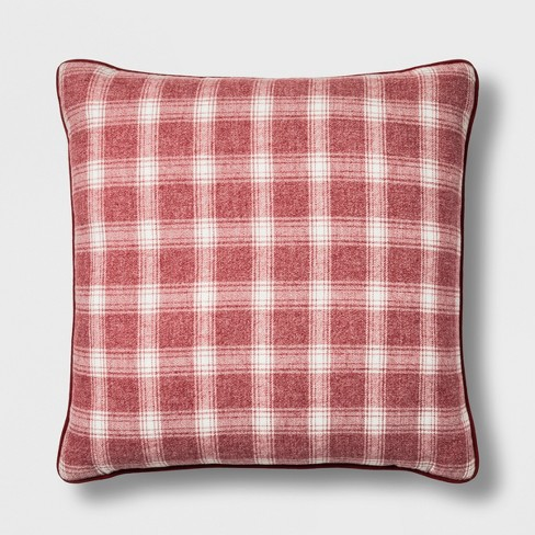 4d9b04d04e1 Plaid Oversize Square Throw Pillow - Threshold™   Target