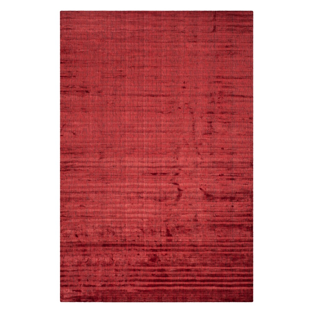 6'X9' Solid Area Rug Red - Safavieh