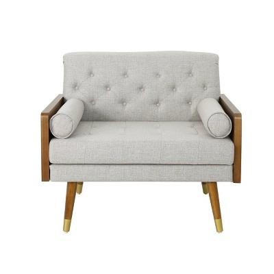 Frankie Mid Century Modern Club Chair Beige - Christopher Knight Home