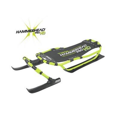 Yukon Charlie's Heavy Duty Durable Steerable Hammerhead Pro HD Snow Sled, Green