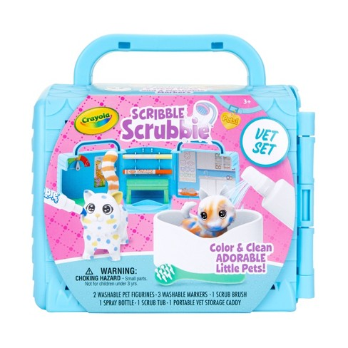 Crayola 9pc Scribble Scrubbie Pets! Vet Playset with Pets - image 1 of 4