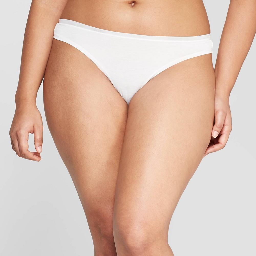 Women's Modal Thong with Mesh Waistband - Auden Fresh White L