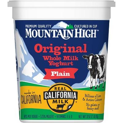 Mountain High All Natural Original Plain Yoghurt - 32oz