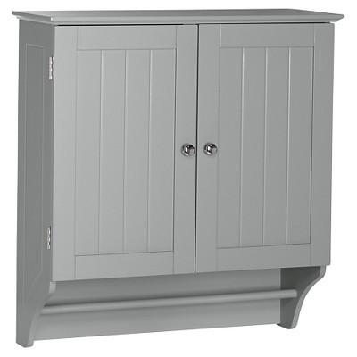 Ashland Collection - 2-Door Wall Cabinet - Gray - RiverRidge®