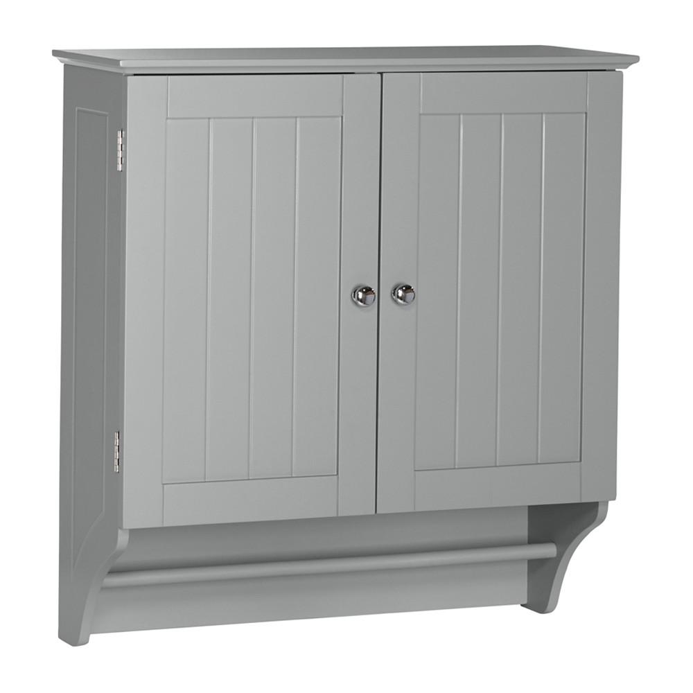 Ashland Collection - 2-Door Wall Cabinet - Gray - RiverRidge