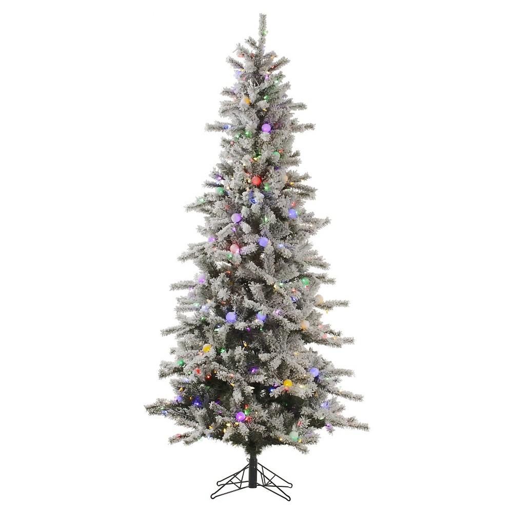 7.5ft Pre-Lit Led Artificial Christmas Tree Full Ogden Fir - White Lights, Green