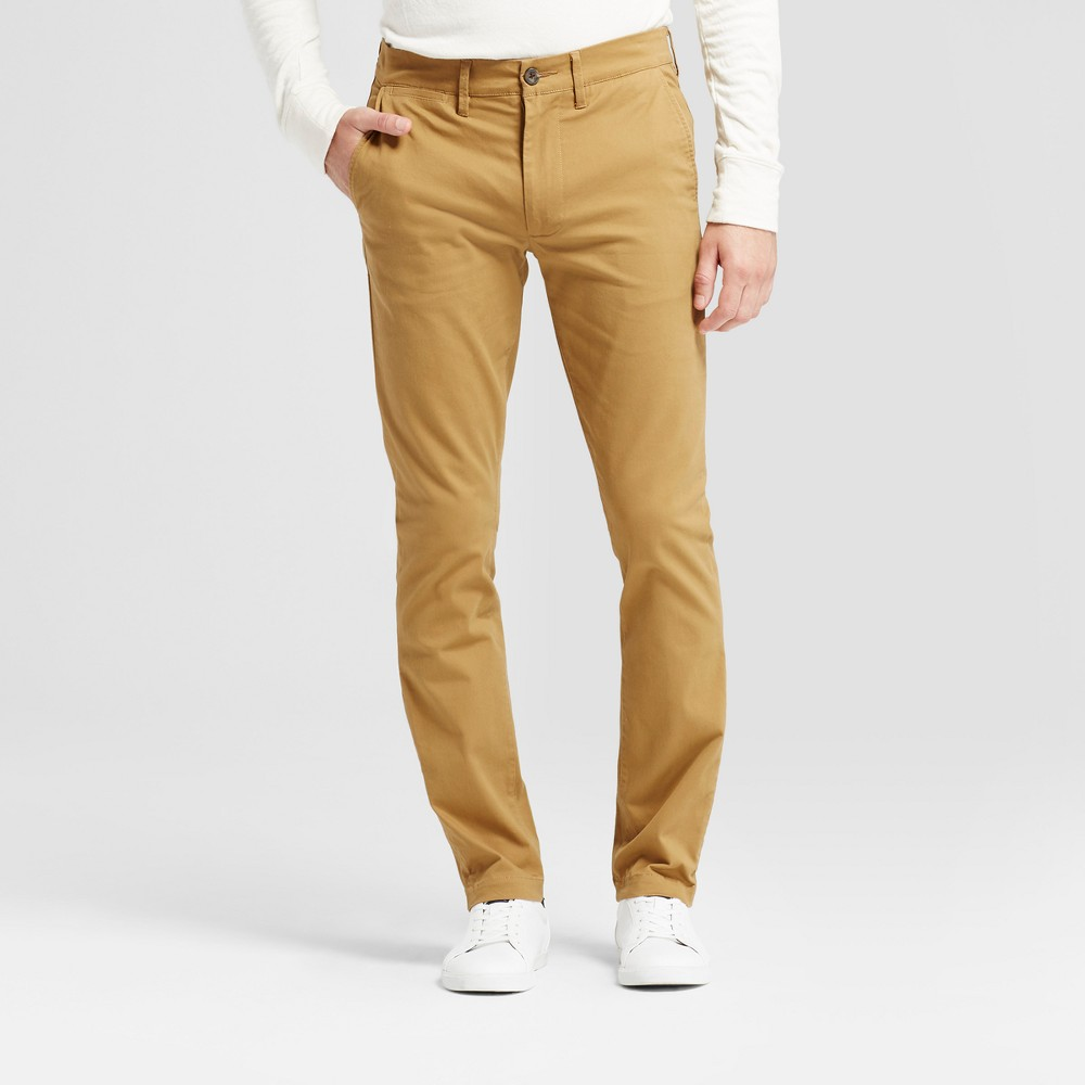 Men S Skinny Fit Hennepin Chino Pants Goodfellow Co 8482 Light Brown 32x32