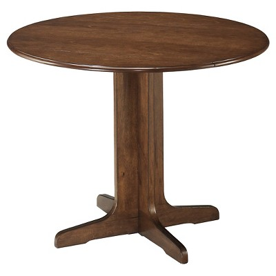 Stuman Round Drop Leaf Dining Table Wood/Medium Brown - Signature Design by Ashley