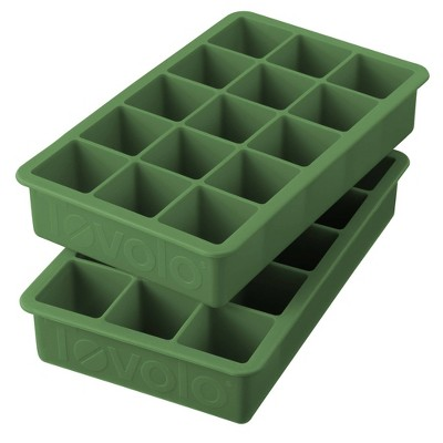 Tovolo Set of 2 Perfect Cube Ice Tray Set Pesto