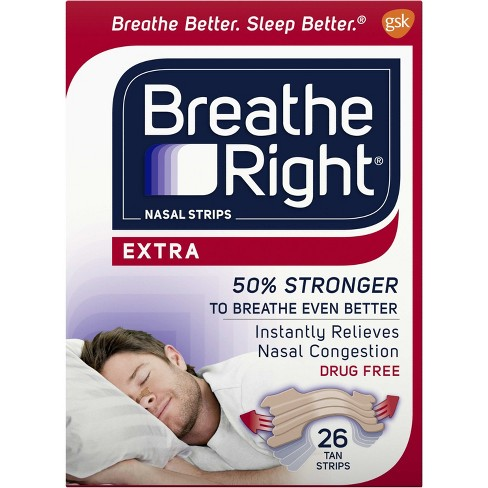 Breathe Right Extra Tan Drug-Free Nasal Strips for Congestion Relief - 26ct - image 1 of 4