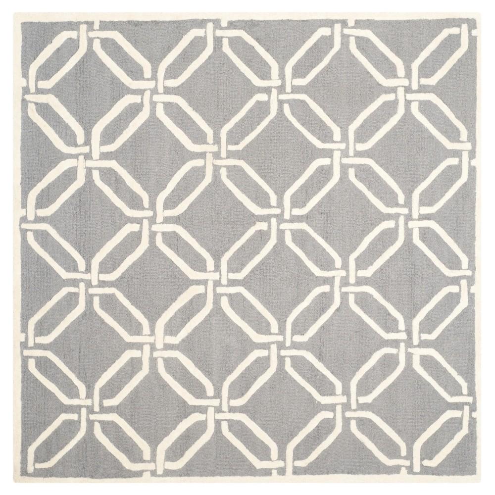 Bellina Textured Area Rug - Dark Gray/Ivory (6' X 6') - Safavieh