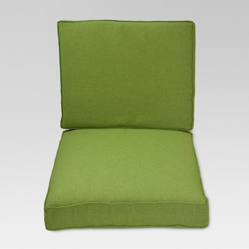Halsted 2pc Outdoor Deep Seating Cushion Set Green Threshold