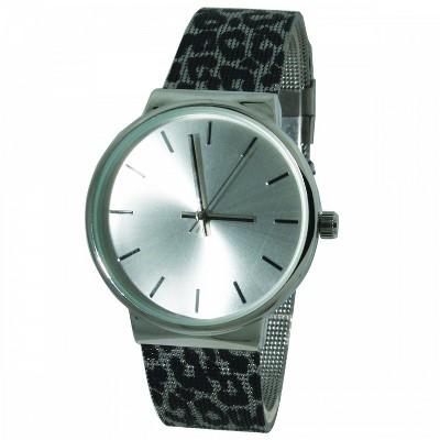 Olivia Pratt Leopard Print Strap Mesh Watch