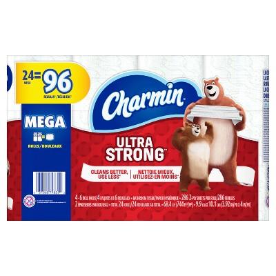 Charmin Ultra Strong Toilet Paper - 24 Mega Rolls