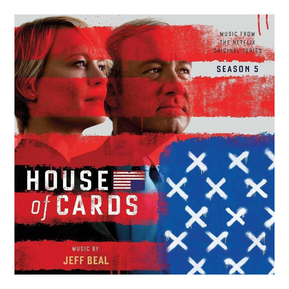 Jeff JeffBeal Beal - House Of Cards 5 (Osc) (CD) Disc 1 1. House of Cards: Nothing to be Afraid Of 2. House of Cards: How We Met 3. House of Cards: House of Cards Theme 4. House of Cards: Dial Up the Terror 5. House of Cards: Infamy 6. House of Cards: About My Father 7. House of Cards: Almost There 8. House of Cards: Is the Damper Open? 9. House of Cards: Tom Yates 10. House of Cards: Simple Truths 11. House of Cards: Find a Judge 12. House of Cards: Tom, Stop 13. House of Cards: Where Are You 14. House of Cards: Are We Toghether 15. House of Cards: He Lived 16. House of Cards: Russians in Antarctica 17. House of Cards: Election Results 18. House of Cards: Artfully Confident 19. House of Cards: Then What 20. House of Cards: Access to Everything 21. House of Cards: New Election Day 22. House of Cards: The Bunker 23. House of Cards: Playing Both Sides 24. House of Cards: Dead to Rights Disc 2 1. House of Cards: Elysium Fields 2. House of Cards: No Good Deed 3. House of Cards: Left for Dead 4. House of Cards: A Million Years Ago 5. House of Cards: Lunch with Petrov 6. House of Cards: America I Hear You 7. House of Cards: Slow Burn 8. House of Cards: Your Job 9. House of Cards: Let Them Forgive You 10. House of Cards: Saved My Life 11. House of Cards: Do You Like It 12. House of Cards: Don't Go Their Way 13. House of Cards: Note from Tom 14. House of Cards: Before I Take It Back 15. House of Cards: Who's the Leak 16. House of Cards: Implicate Yourself 17. House of Cards: Night Vigil 18. House of Cards: Shut It Down 19. House of Cards: The One to Watch 20. House of Cards: Real Power 21. House of Cards: Women in Combat 22. House of Cards: Heavy Heart 23. House of Cards: Contingencies 24. House of Cards: Swallowing Poison 25. House of Cards: For Now 26. House of Cards: Lee Ann Missing 27. House of Cards: Nuclear Codes