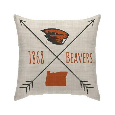 NCAA Oregon State Beavers Cross Arrow Decorative Throw Pillow