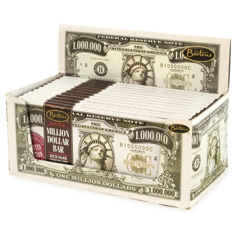 Bartons Million Dollar Bar Dark Chocolate - 2oz -12ct - 2pk - image 1 of 2
