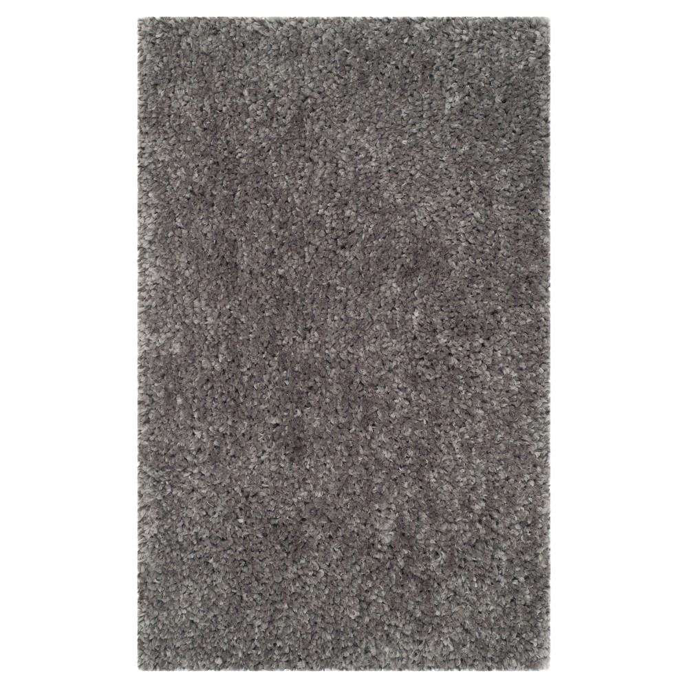 Silver Solid Shag/Flokati Tufted Accent Rug - (2'6X4') - Safavieh