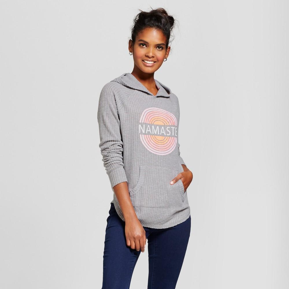 Women's Namaste Graphic Hoodie Sweatshirt - Grayson Threads (Juniors') Gray S