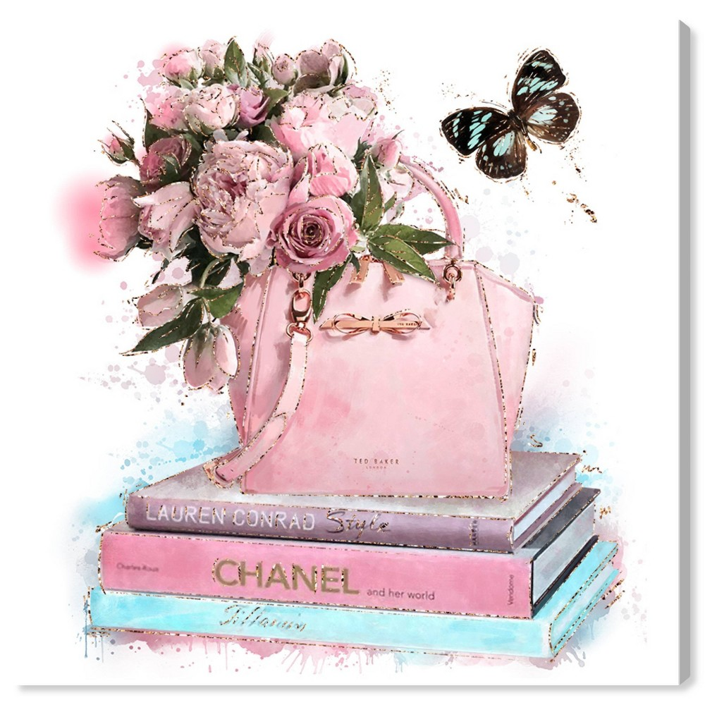 Image of 12'' x 12'' Celebrate Fashion Light Unframed Wall Canvas Pink - Oliver Gal