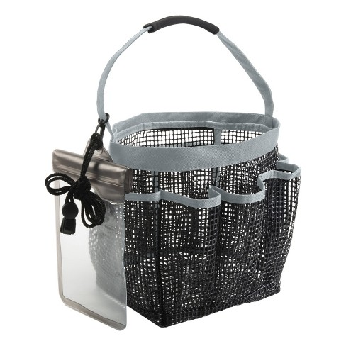 Heavy Duty Bath Tote with Waterproof Phone Holder Gray - Simplify - image 1 of 4